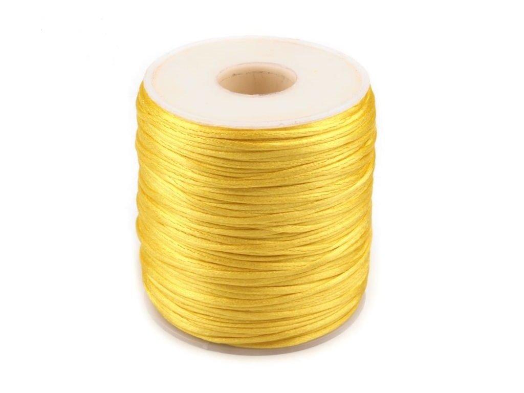 Šnúra Ø1 mm saténová žltá