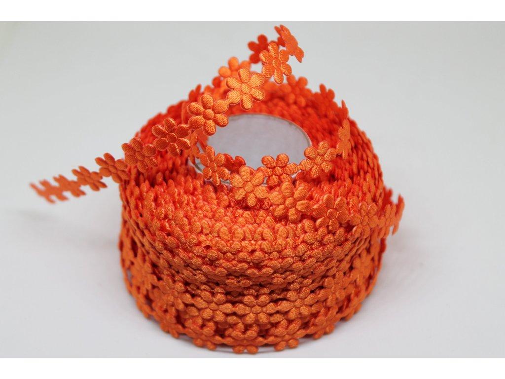 Kvietok saténový oranžový 10mm
