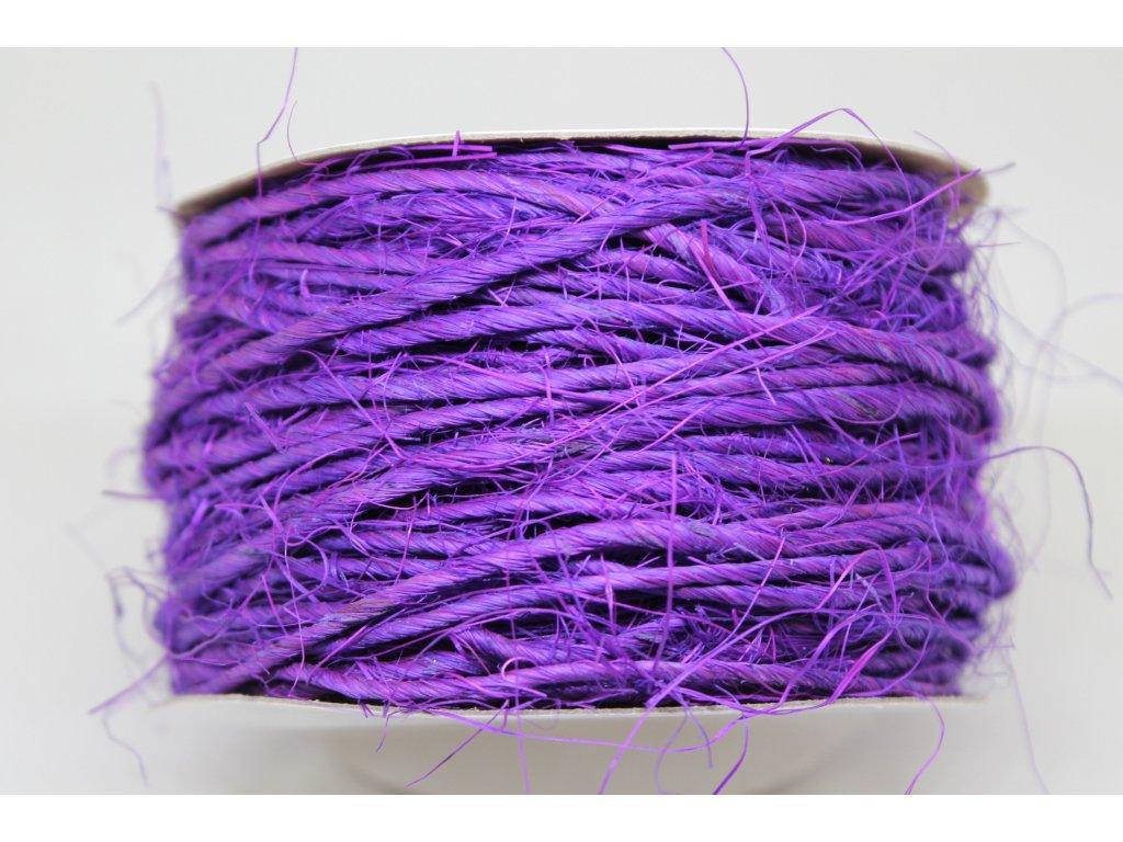 Šnúra sisalová fialová 2mm/20m