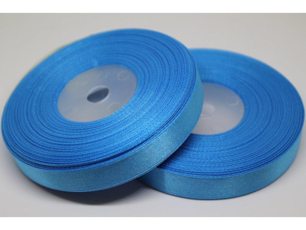 Saténová stuha 12mm A069 žiarivá modrá