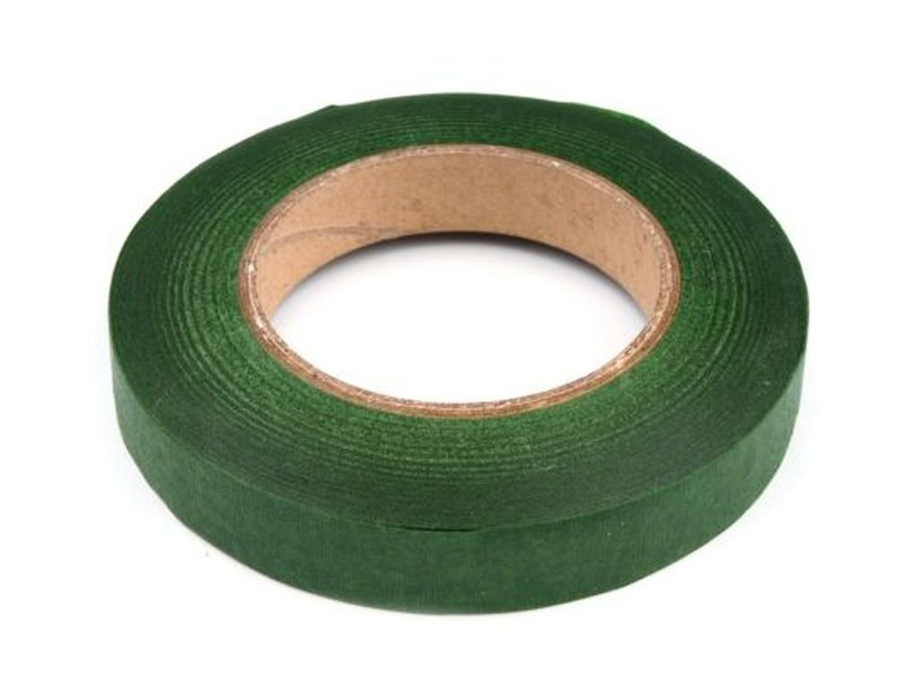Floristická páska 12mm/27m zelené papradie