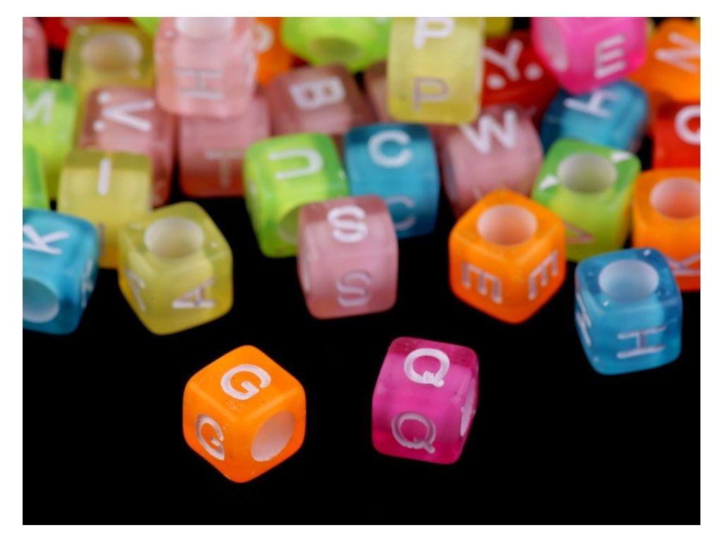 Písmenká farebné 6 mm