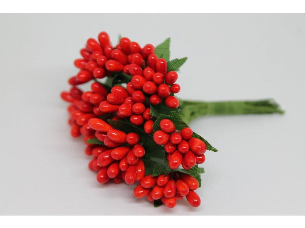 Tyčinky do kvetín so zelenými lístkami 050