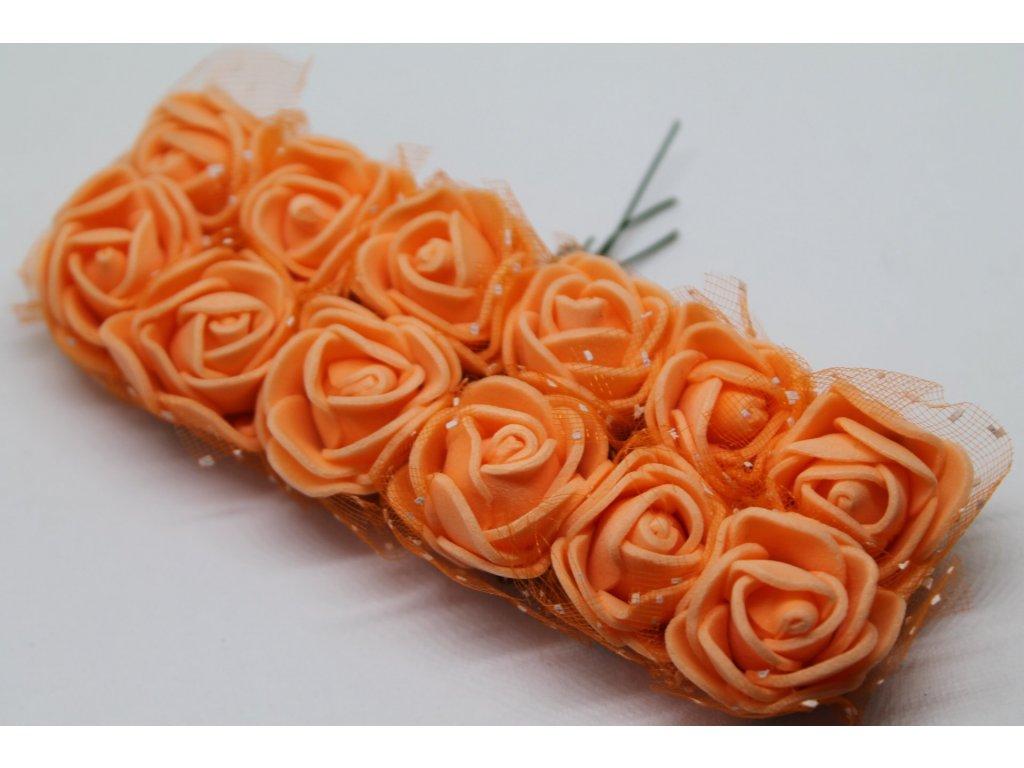 Penové ružičky lososové s tylom
