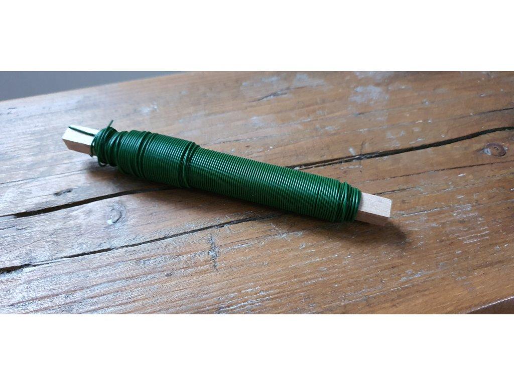 Floristický drôt zelený 0,7mm/100g