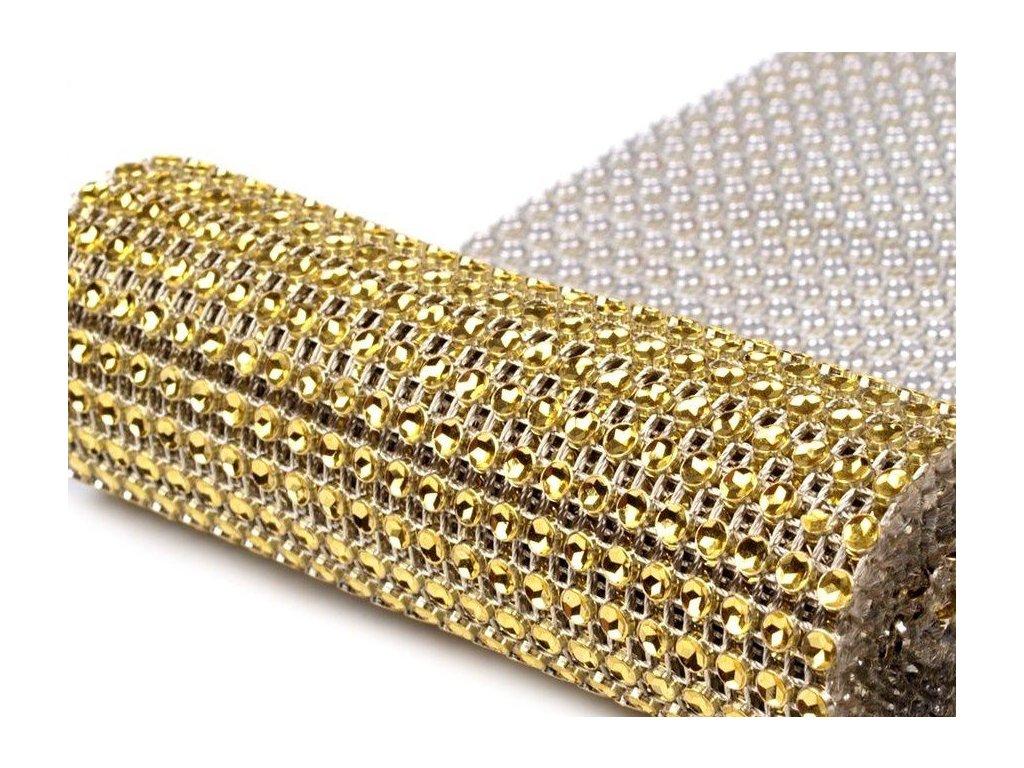 Diamantový pás 12cmm zlatý