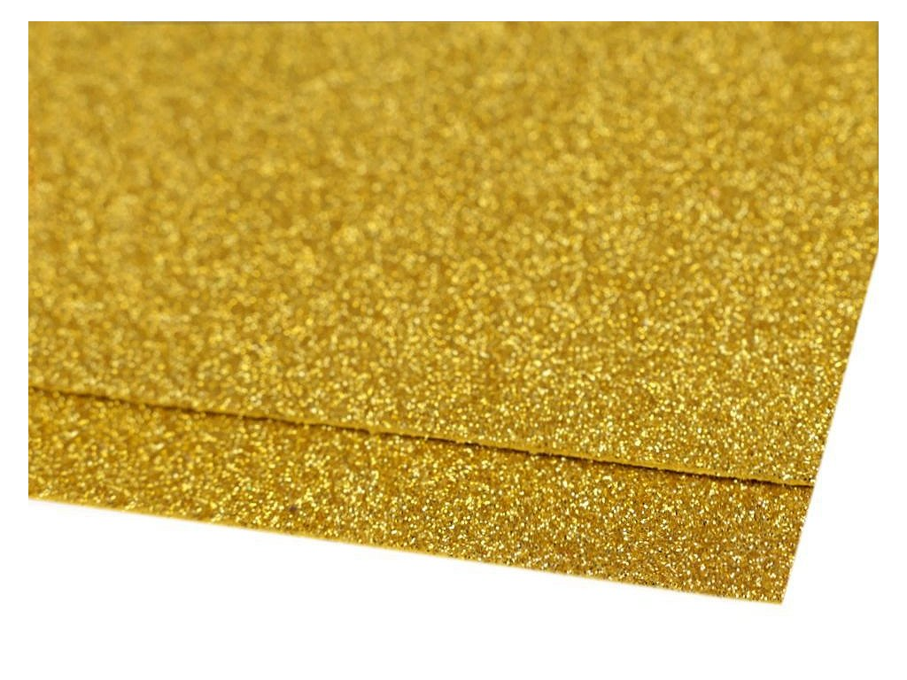 Machová guma glitrová zlatá