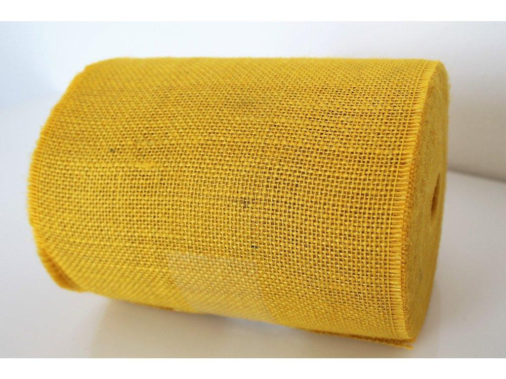 Jutová stuha 20cm žltá