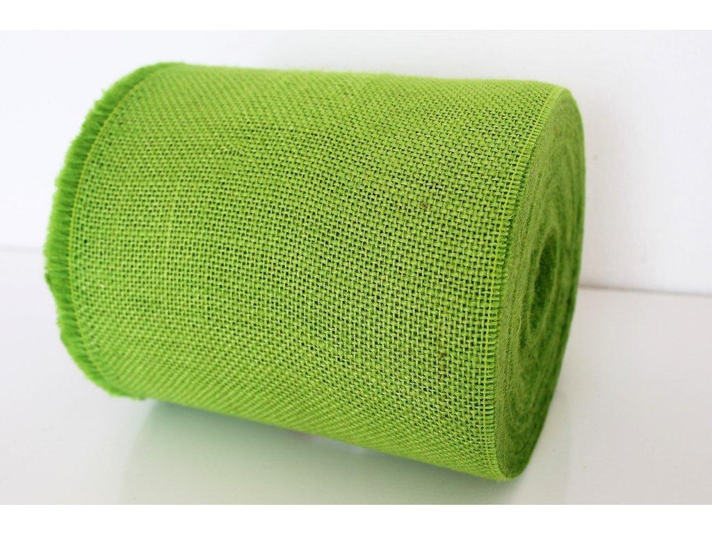 Jutová stuha 20cm zelená