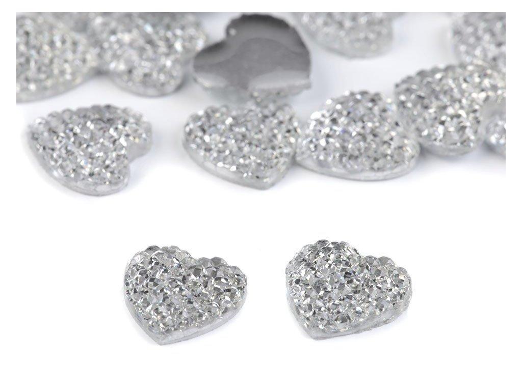 Brúsený kamienok srdce 12mm