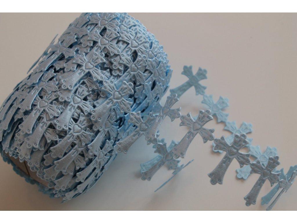 Aplikácia krížik 25x30mm modrý