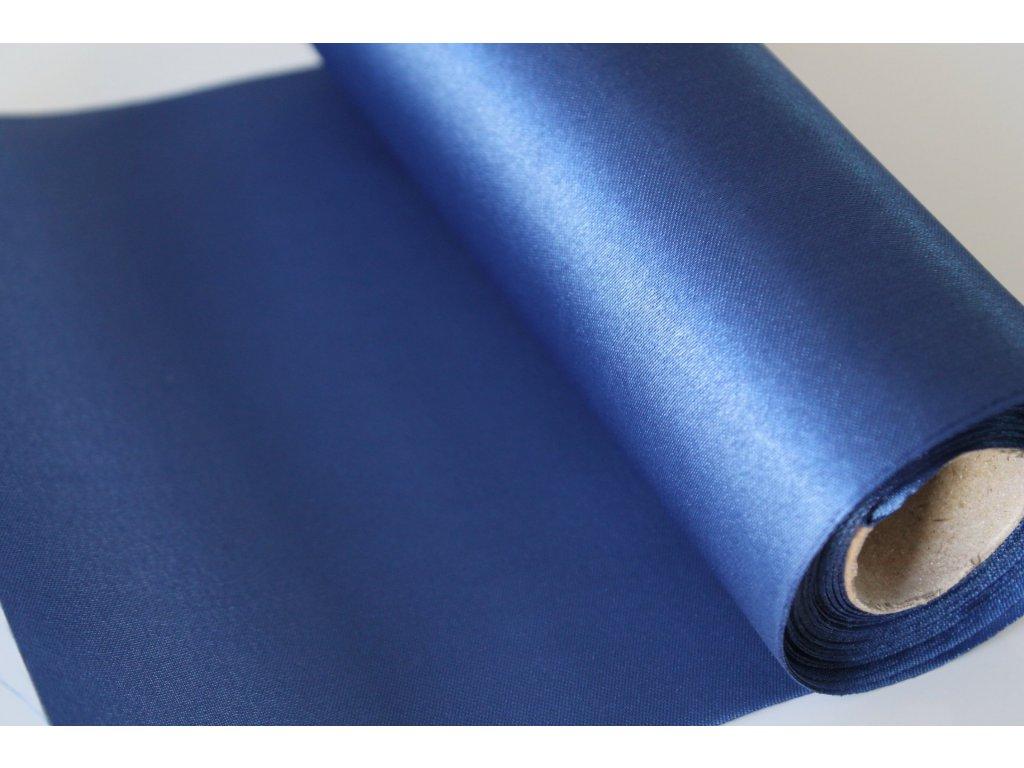 Satén v rolke 16cm/9m kráľovsky modrý