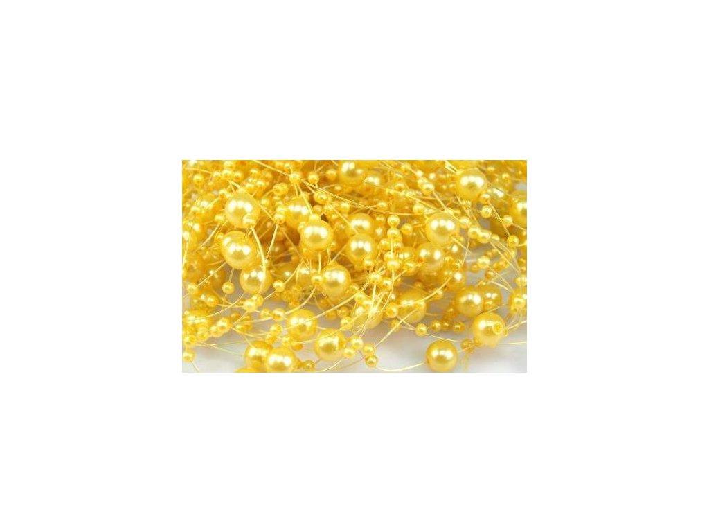 Girlanda 7mm/130cm žltá