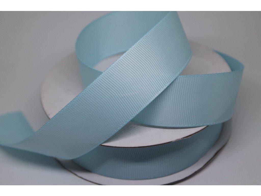 Rypsová stuha 25mm nebeská modrá 091