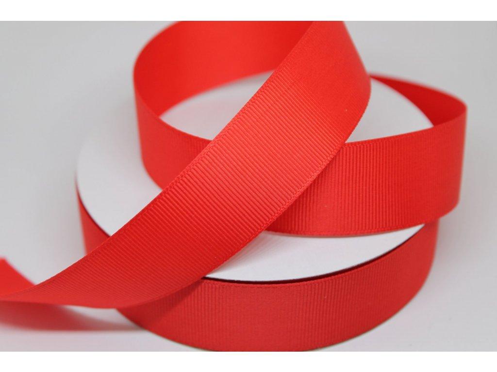 Rypsová stuha 25mm červená 050