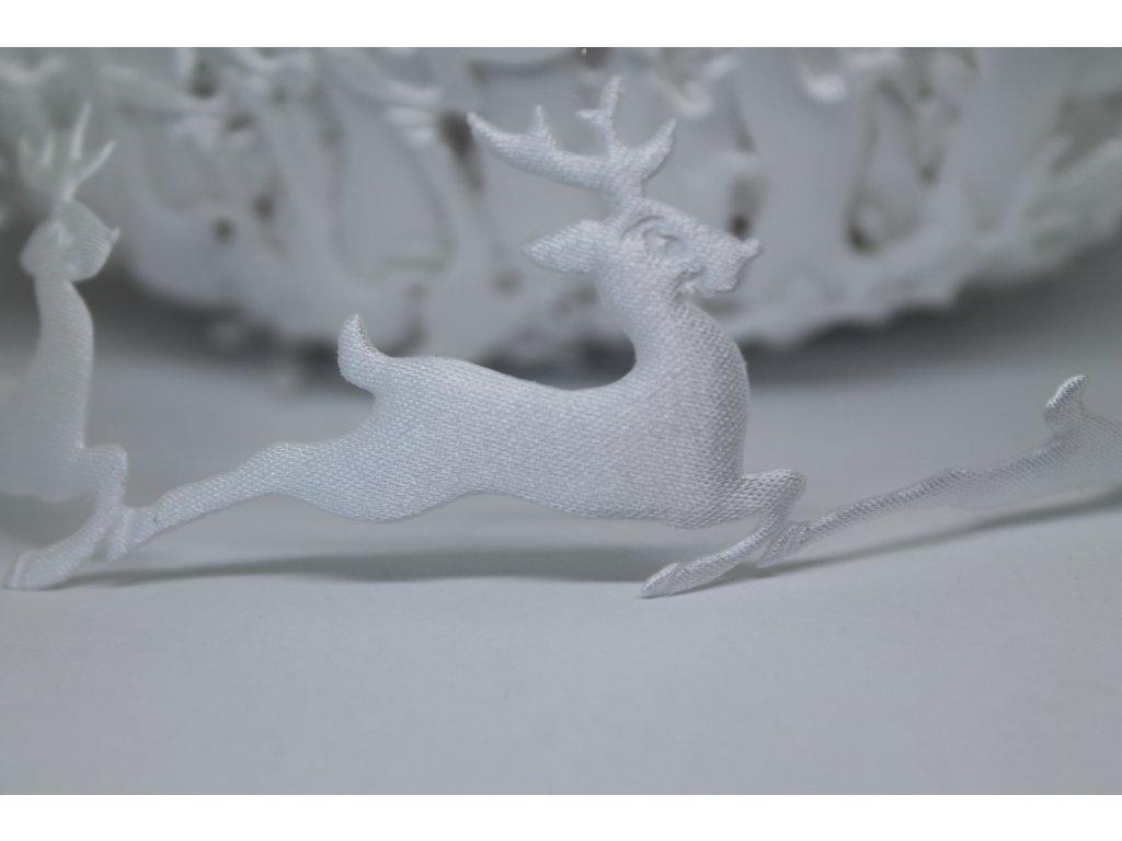 Aplikácia sobík biely 4x5 cm
