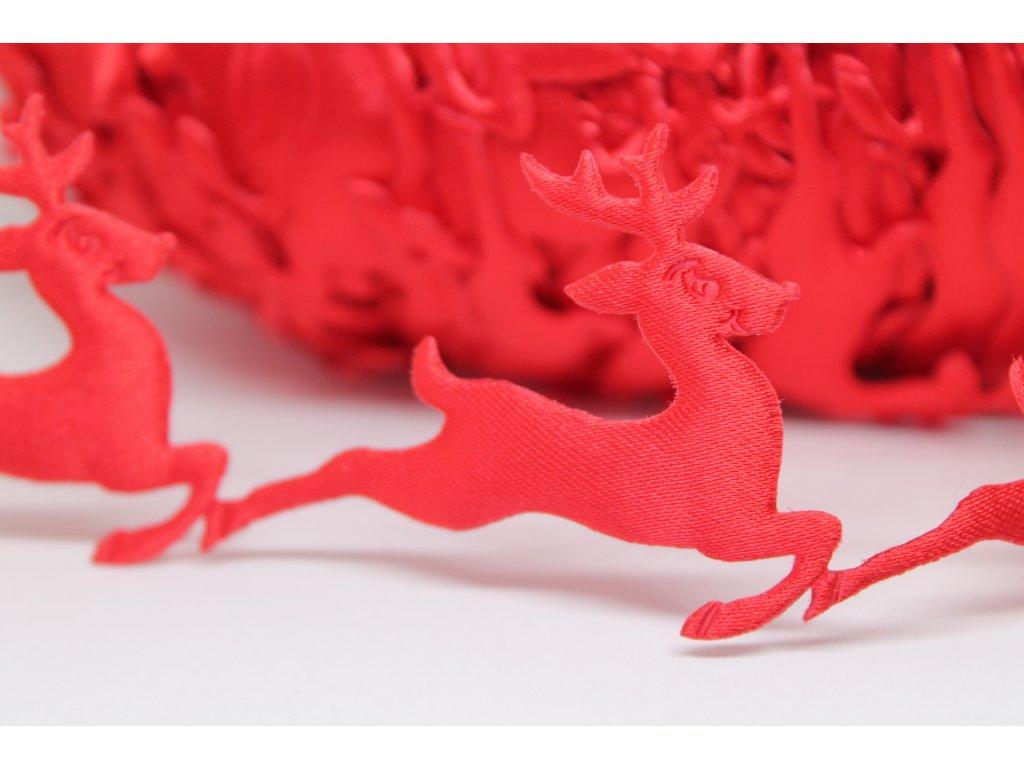 Aplikácia sobík červený 4x5 cm