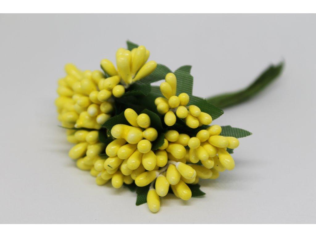 Tyčinky do kvetín so zelenými lístkami 020