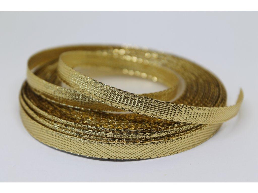 Metalizovaná zlatá stuha 6 mm