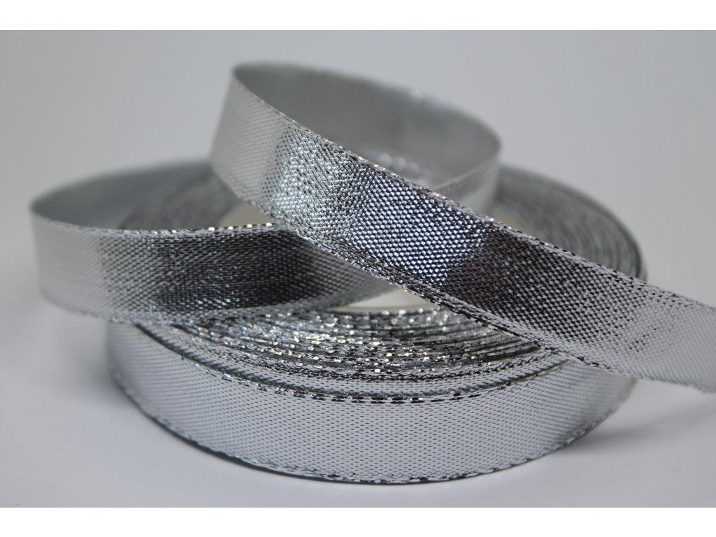 Metalizovaná strieborná stuha 12 mm