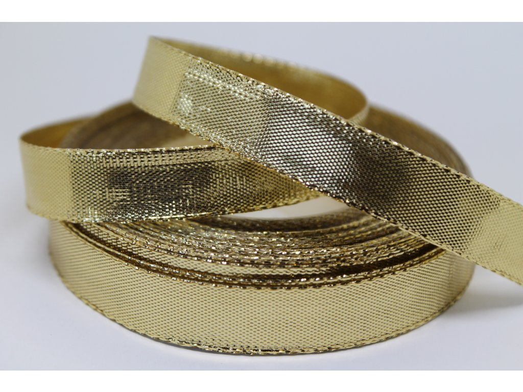 Metalizovaná zlatá stuha 12 mm