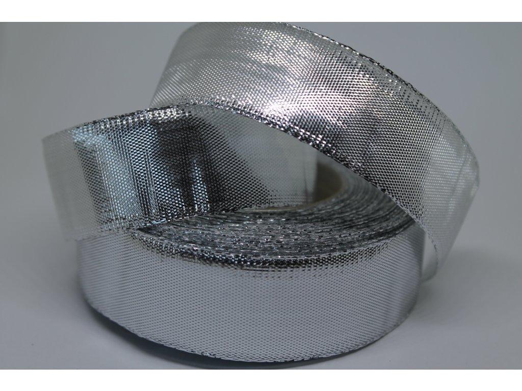 Metalizovaná strieborná stuha 25 mm