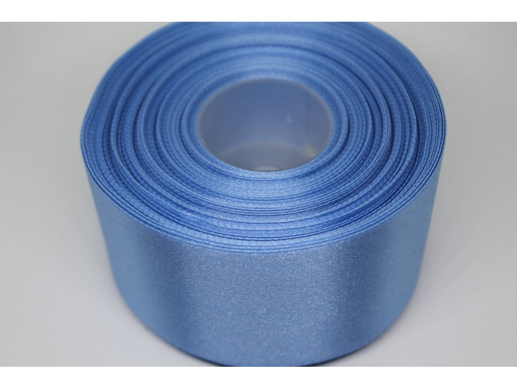 Saténová stuha 50mm A034 modrá capri