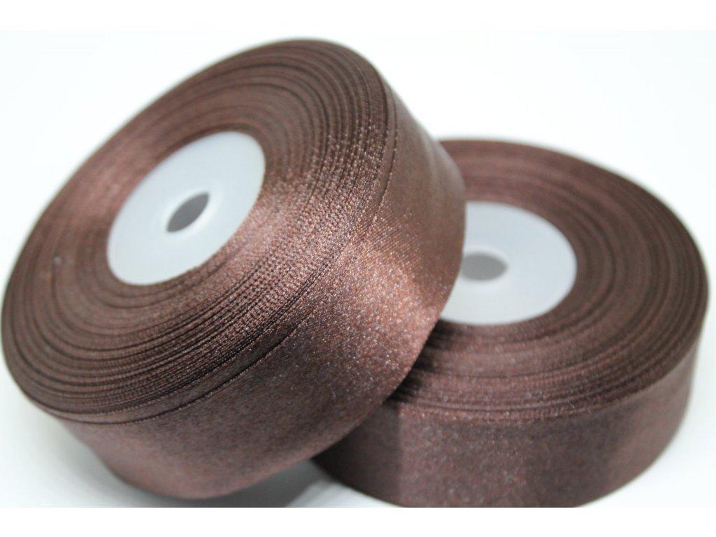 78555 satenova stuha 25mm a089 tmava cokolada