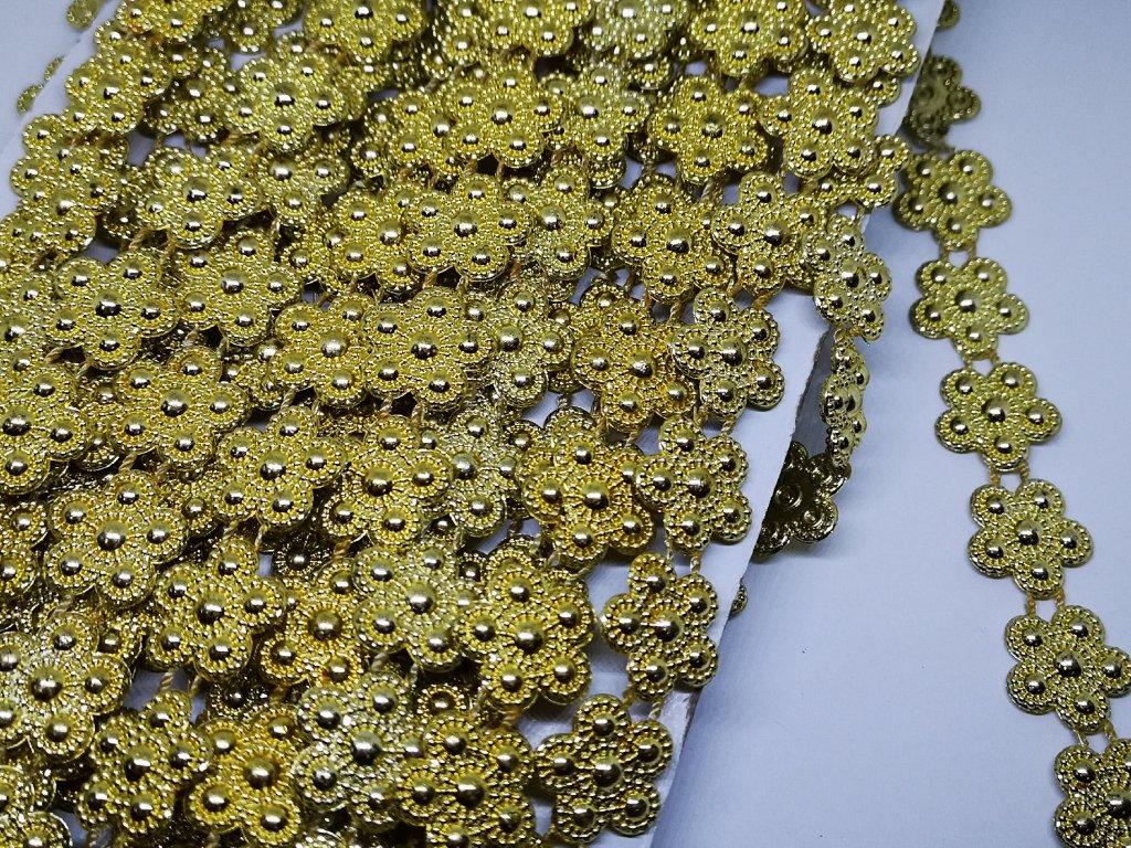 Borta 17mm kvietky zlatá
