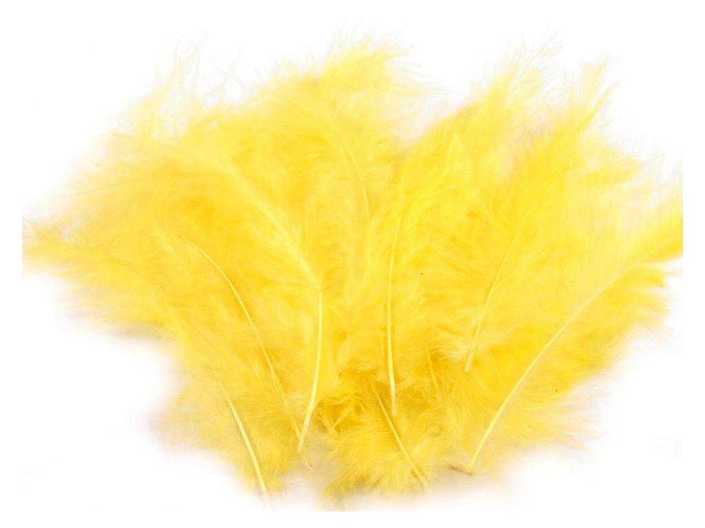 Dekoračné perie 15g žlté 020