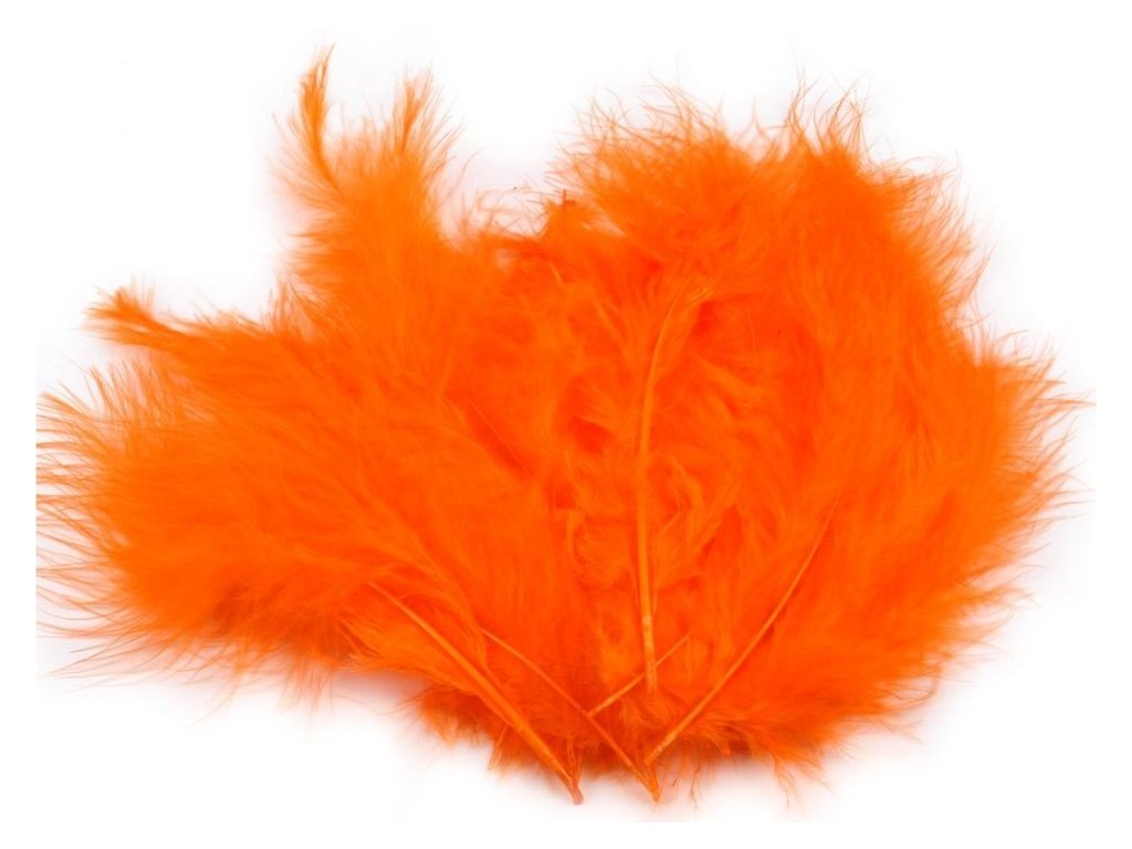Dekoračné perie 10g oranžové