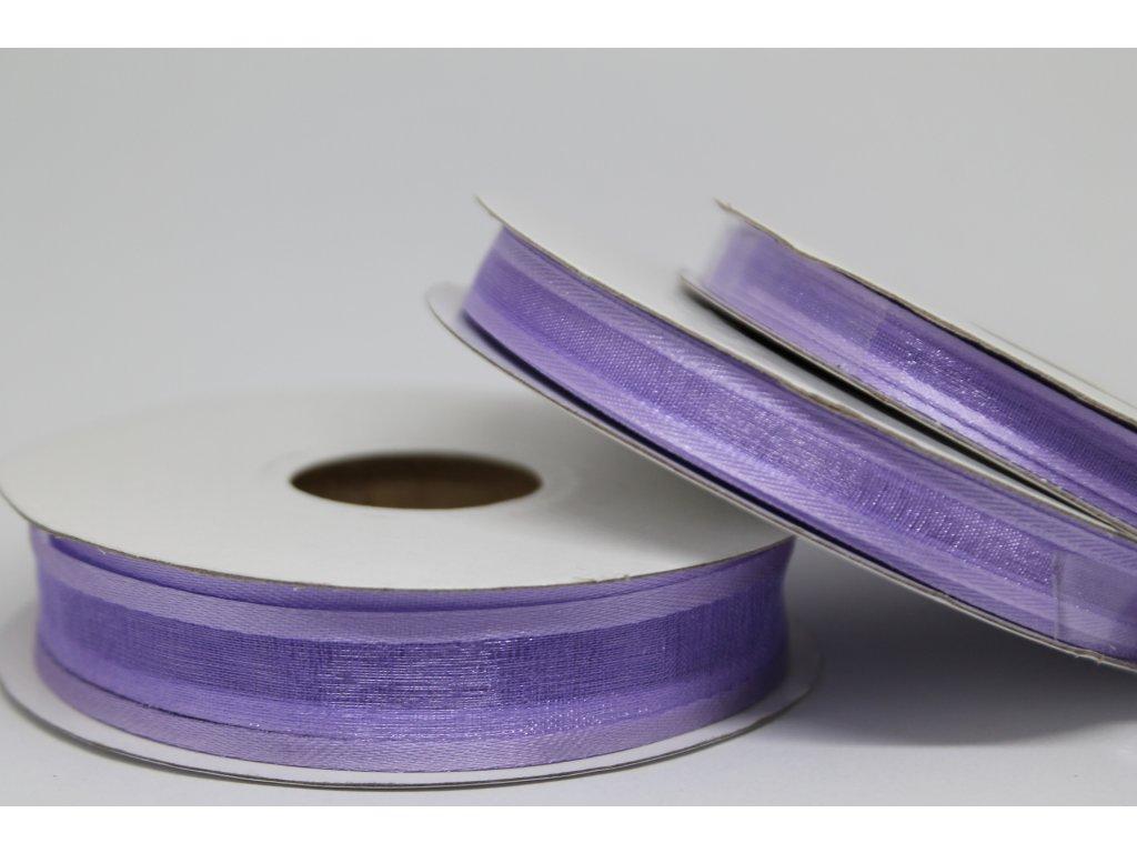 Šifónová stuha fialová s lemom 6mm 075