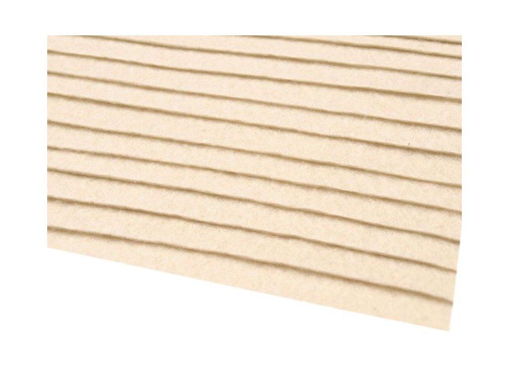 Filc tuhý 1,5 mm 012 krémový