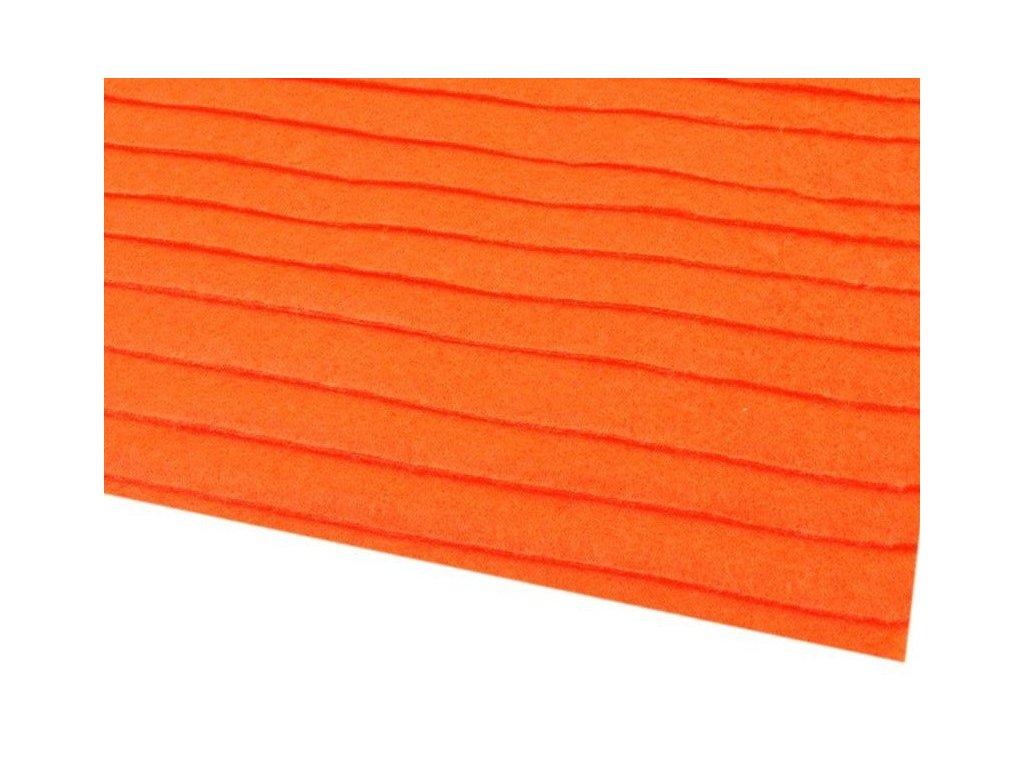 Filc tuhý 1,5 mm 032 pomarančový