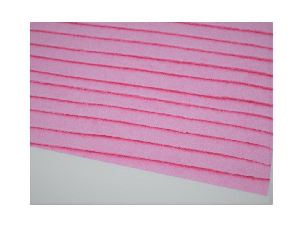 Filc tuhý 1,5 mm 041 svetlý ružový