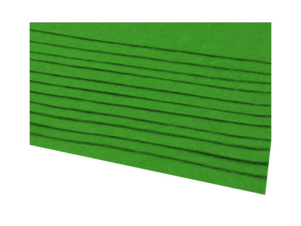 Filc tuhý 1,5 mm 080 zelený