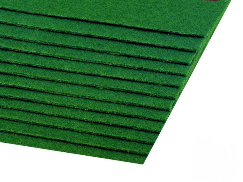 Filc tuhý 1,5 mm 084 tmavý zelený