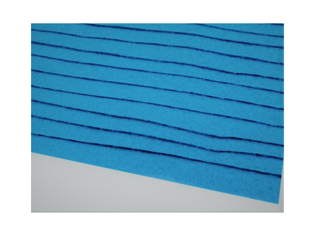 Filc tuhý 1,5 mm 090 modrý