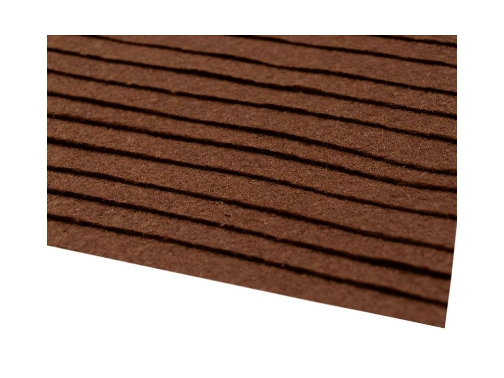 Filc tuhý 1,5 mm 122 hnedý