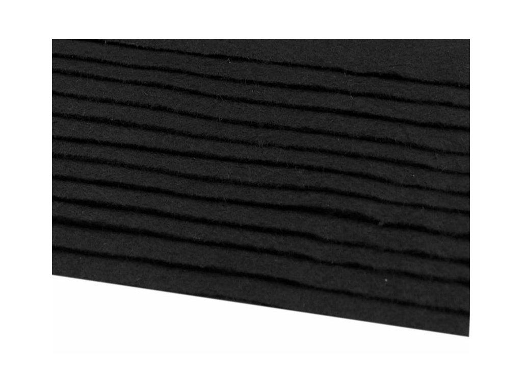 Filc tuhý 1,5 mm 900 čierny