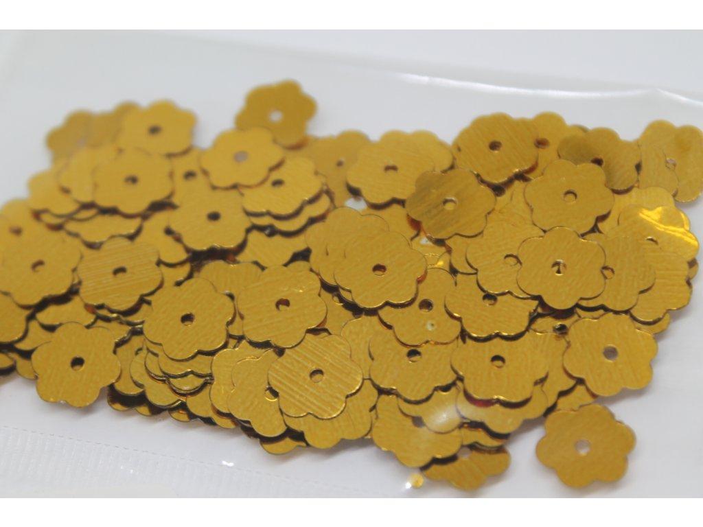 Flitre kvetinky zlaté 10mm/5g