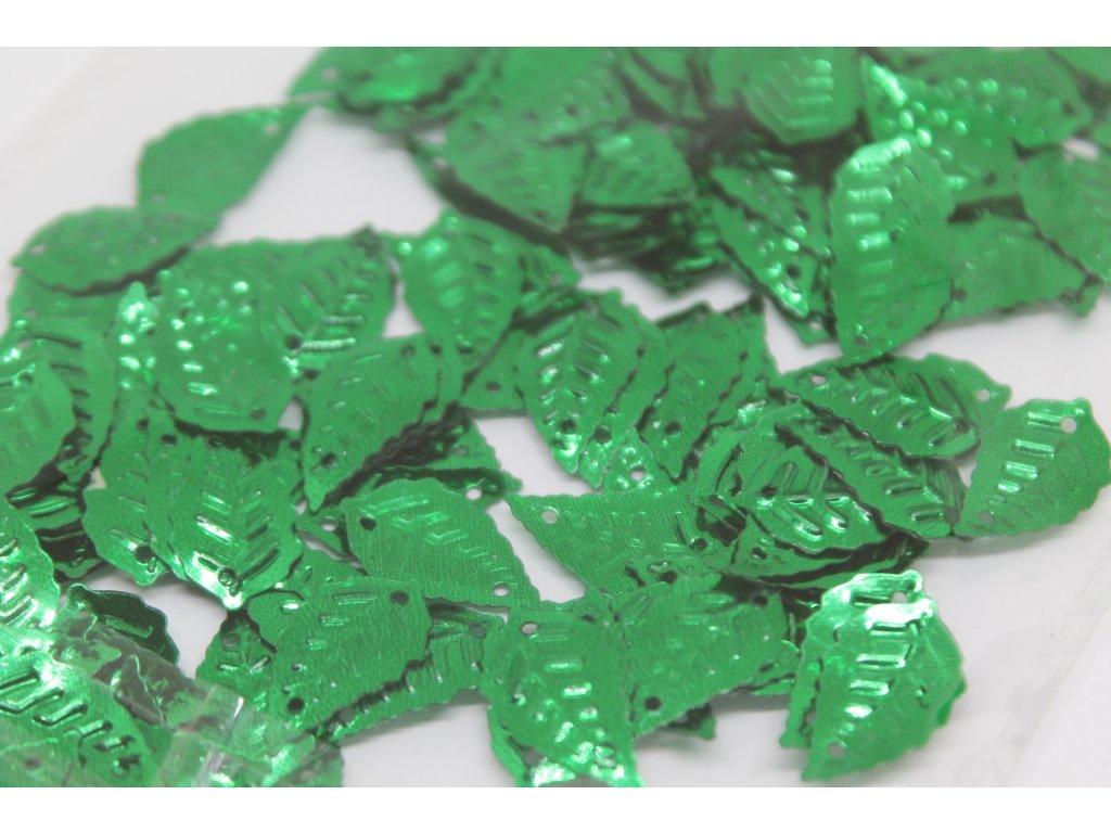 Flitre lístočky zelené 15x25mm/5g