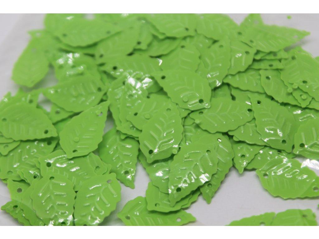 Flitre lístočky neónovo zelené 15x25mm/5g