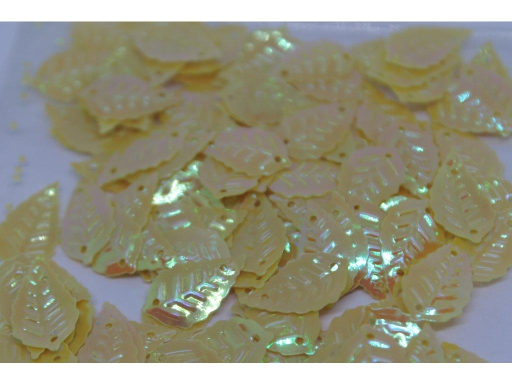 Flitre lístočky žlté 8x13mm/5g