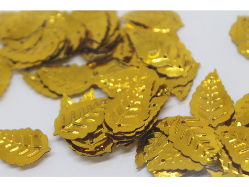 Flitre lístočky zlaté 8x13mm/5g