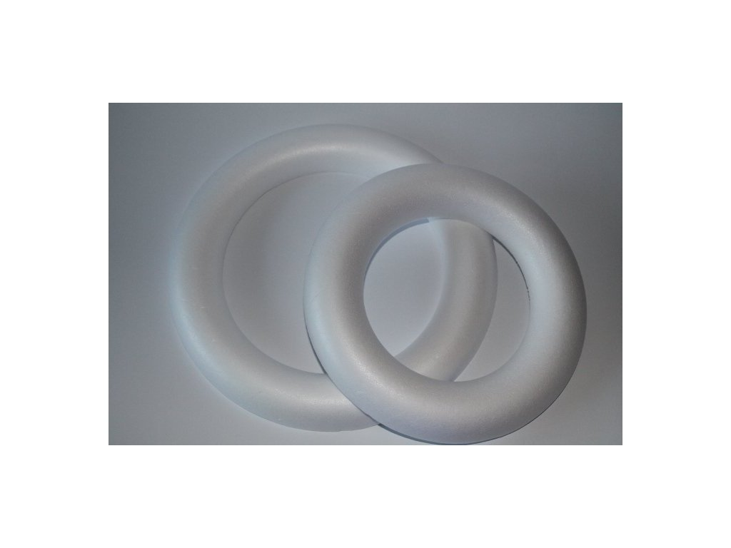 Polystyrénový venček 1/2 22 cm