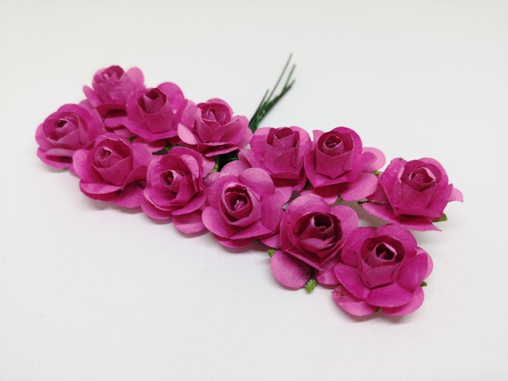 Papierové ružičky cyklaménové