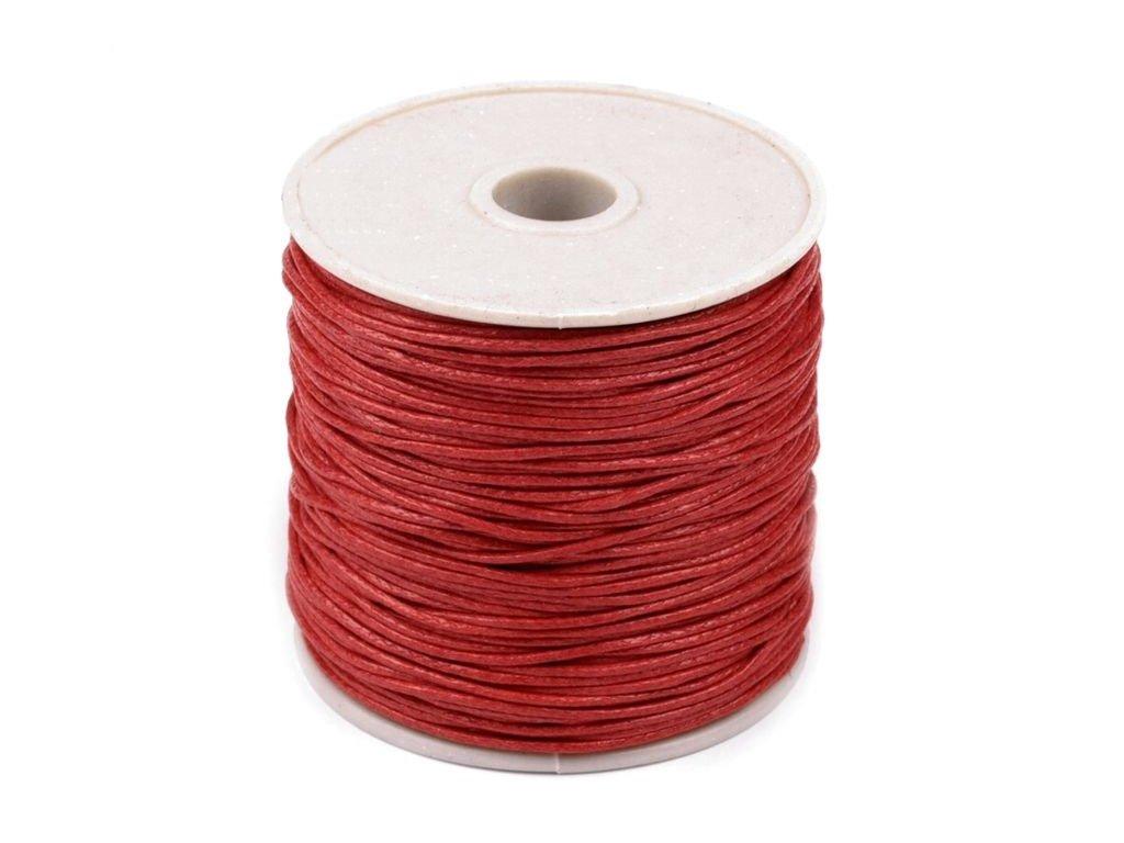 Šnúra voskovaná červená Ø1 mm
