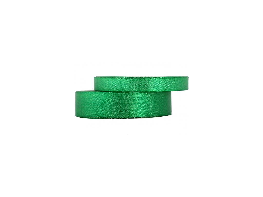wstazka satynowa z brokatem 12mm 22m zielona trawa