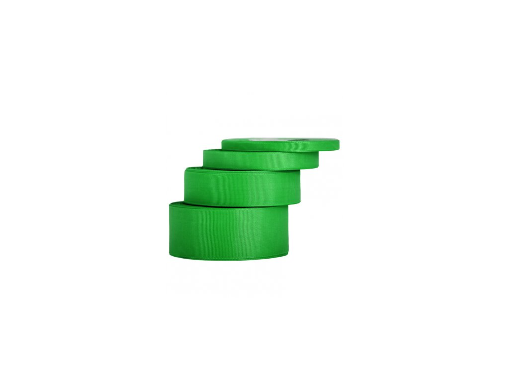 wstazka rypsowa 12mm 22mb zielona